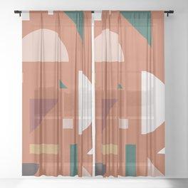 Abstract Geometric 32 Sheer Curtain