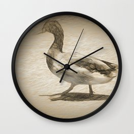 Mallard stroll Wall Clock