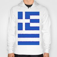 greek Hoodies featuring Greek flag by Created by Eleni