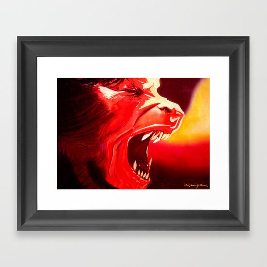 An Italian Werewolf In London Framed Art Print