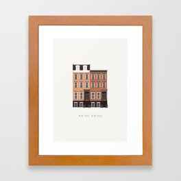 New York, NY Brownstone Framed Art Print
