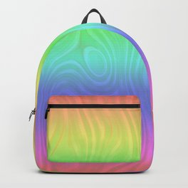 Groovy Pastel Rainbow Backpack
