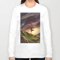 studio ghibli Long Sleeve T-shirts featuring Studio Ghibli - Howl's Moving Castle by BBANDITT