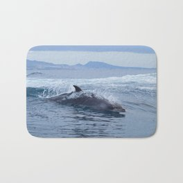 Dolphin: love for waves, love for life Bath Mat