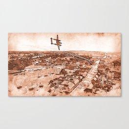 Normandy 1944, Lockheed P-38 Lightning Canvas Print