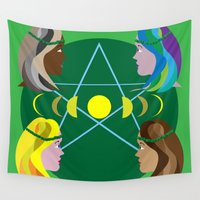goddess Wall Tapestries featuring Goddess by Watch House Design