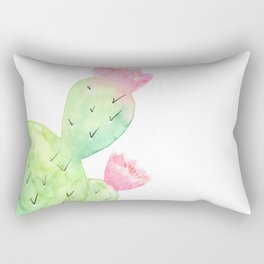 Watercolor Cactus | Buy Watercolor Art | Society 6 Rectangular Pillow