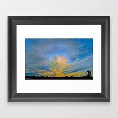 Sun Dogs and Desert Visions II Framed Art Print