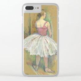 """Henri de Toulouse-Lautrec """"Danseuse en pied. Vue de dos (Standing dancer. Back vue)"""" Clear iPhone Case"""