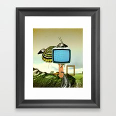 Waiting for Magritte Framed Art Print