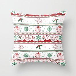 Santa babe red & green Throw Pillow