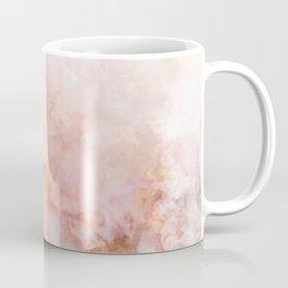 Beautiful Pink and Gold Ombre marble under snow Coffee Mug