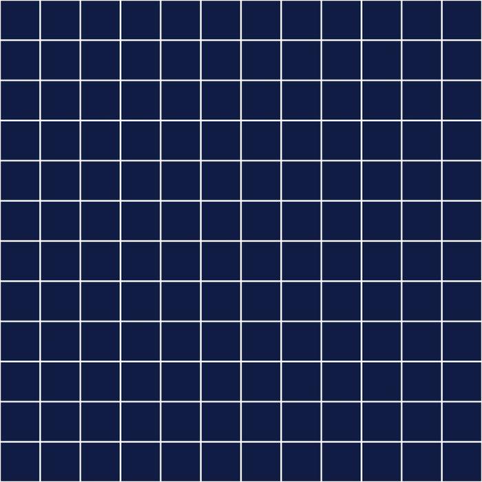 Indigo Navy Blue Grid Duvet Cover