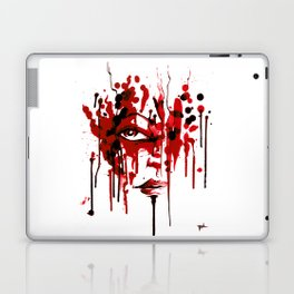 Encres rouge Laptop & iPad Skin