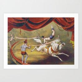 Banner Act - Vintage Circus Art, 1873 Art Print