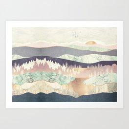 Golden Spring Reflection-Horizontal Muted Art Print