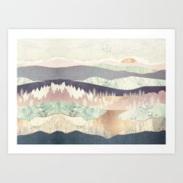 Golden Spring Reflection-Horizontal Muted Art Print