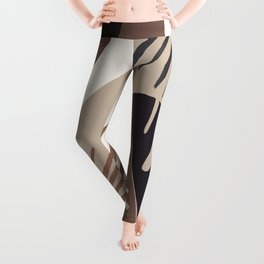 Minimal Yin Yang Monstera Fan Palm Finesse #6 #tropical #decor #art #society6 Leggings