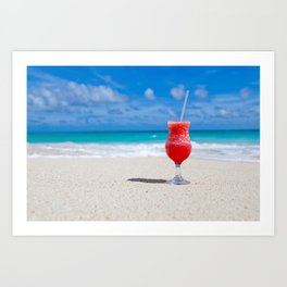Daiquiri on the Beach Art Print