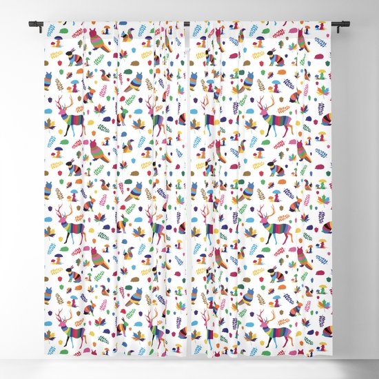 colorful woodland animals pattern by colorofmagic
