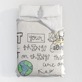 Colossians 3:2 Comforters