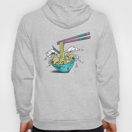 The Great Wave of Noodles with chopstick Hoody