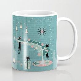 Retro Naughty Kitty Christmas Coffee Mug
