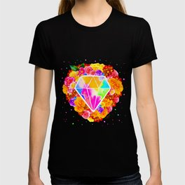 Flowered Diamond T-shirt