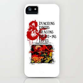 Dungeons & Dragons Stylized black iPhone Case
