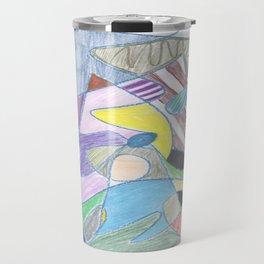 Abstract Color Doodle Travel Mug