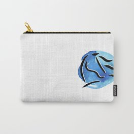 Spirit Horse {Blue Watercolor} Carry-All Pouch