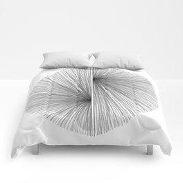 Mid Century Modern Geometric Abstract Radiating Lines Comforters