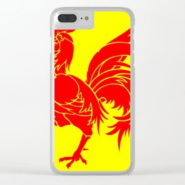 Flag of wallonia - Drapeau wallon,wallonie,Belgique,Belge,Bruxelles,France,Mons,Charleroi,coq,jaune Clear iPhone Case