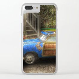 Off to Fulfill a Surfing Dream Clear iPhone Case