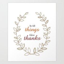 Quote Inspirational wall art Fall Thanksgiving Art Print