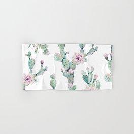 Arizona Desert Rose Cactus Pattern Hand & Bath Towel
