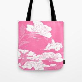 Pink JaPanese Flowers. & Bird Tote Bag