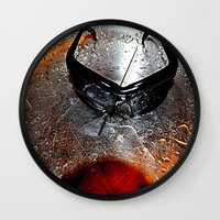 glasses Wall Clocks featuring glasses by  Agostino Lo Coco