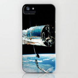 Hubble Space Telescope - Hubble Left Alone in Space (1999) iPhone Case