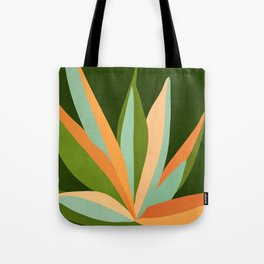 Colorful Agave / Painted Cactus Illustration Tote Bag