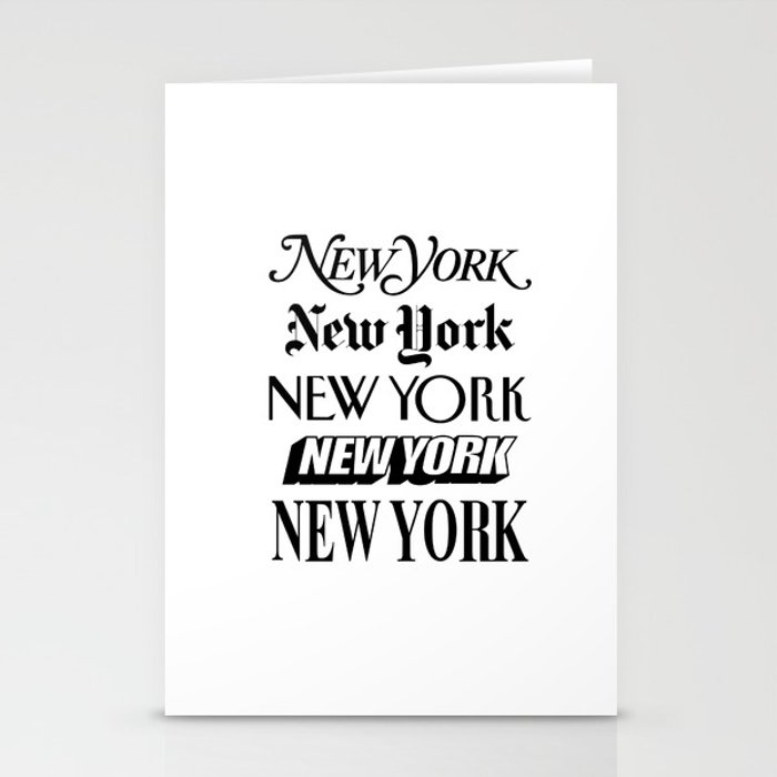 I Heart New York City Black and White New York Poster I Love NYC Design black-white home wall decor Stationery Cards