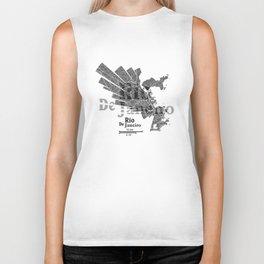 Rio De Janeiro Map Biker Tank