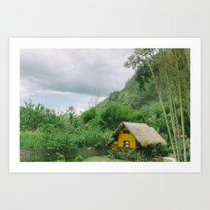 Thailand bungalow Art Print
