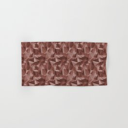Abstract Geometrical Triangle Patterns 3 Dunn Edwards Spice of Life DET439 Hand & Bath Towel