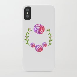 Floral Round iPhone Case