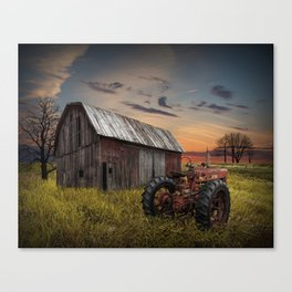Abandoned Farmall Tractor and Barn Canvas Print