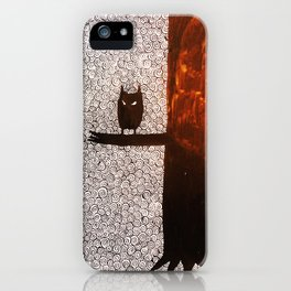 wolf and owl iPhone Case