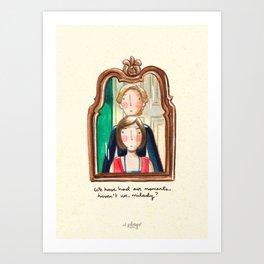 Maid and Lady Art Print