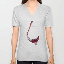Elegant Red Wine Photo Unisex V-Neck