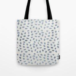 Simply Ink Splotch Indigo Blue on Lunar Gray Tote Bag